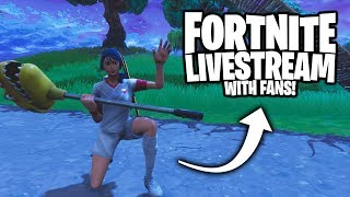 Playing with fans!!! On the grind to 10k subs! (Fortnite Subscribers)