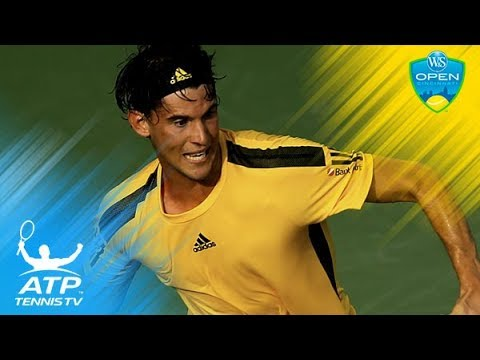 Dominic Thiem vs Adrian Mannarino best rallies & match point | Cincinnati 2017