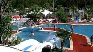 Vue du parc aquatique du camping Cap Soleil