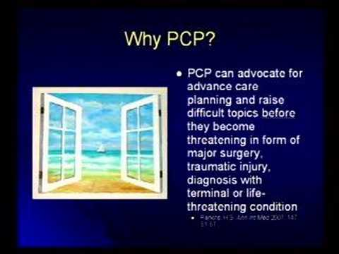 Advance Care Planning: Role of the Primary Care Physician