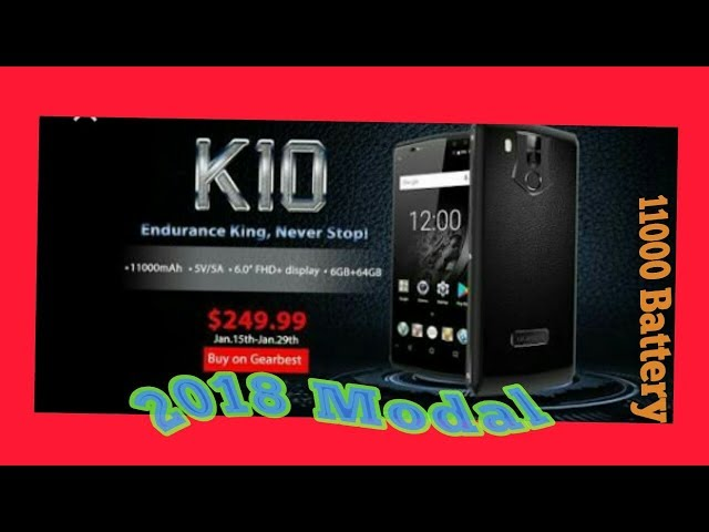 Oukitel K10 - Full HD (1080p) camera