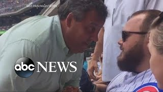 Chris Christie gets in fan's face at baseball game
