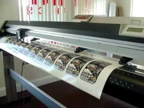 How Vinyl Decals Are Made YouTube - Vinyl decal printing machine