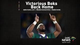 Victorious Springboks arrive back home | 05 November 2019