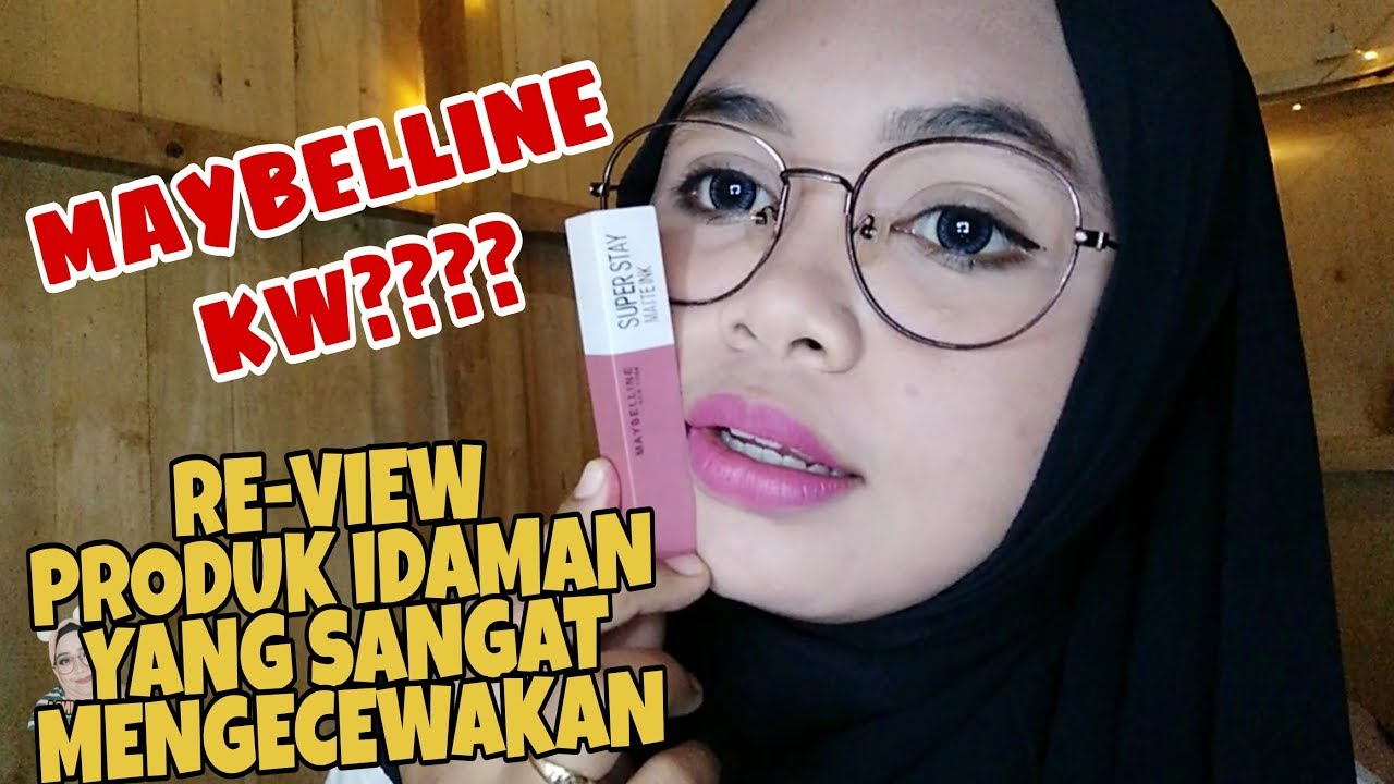 Review Lipstik Kw Maybelline Super Stay Matte Ink Reski Afrilinda
