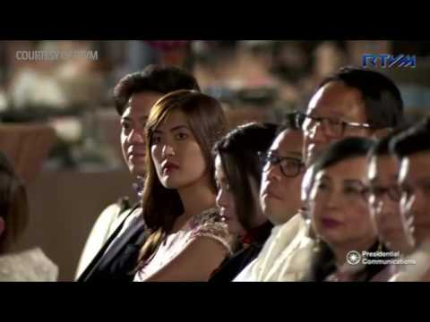 Duterte attends the mass oath taking of Presidential appointees