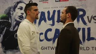 JAKE 'THE BLADE' BALL v MILES SHINKWIN - HEAD TO HEAD @ FINAL PRESS CONFERENCE