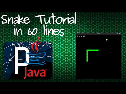 Programming Snake Game In Java Processing Tutorial