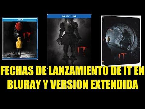 Fechas de Lanzamiento de IT en BluRay y Versión Extendida