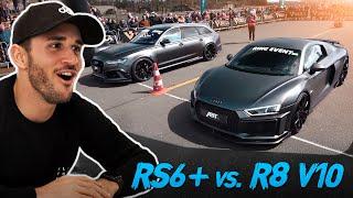 ABT Audi RS6+ vs R8 V10 Plus DRAG RACE! | Daniel Abt thumbnail
