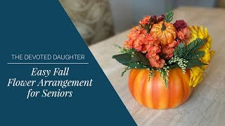 Easy Fall Flower Arrangement or Centerpiece