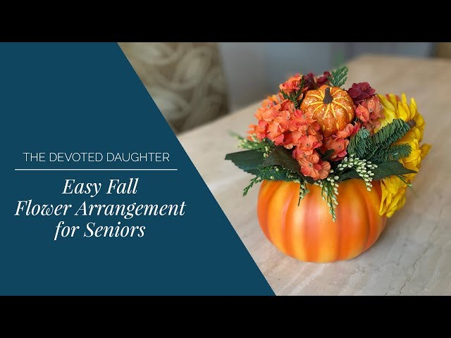 Easy Fall Flower Arrangement or Centerpiece