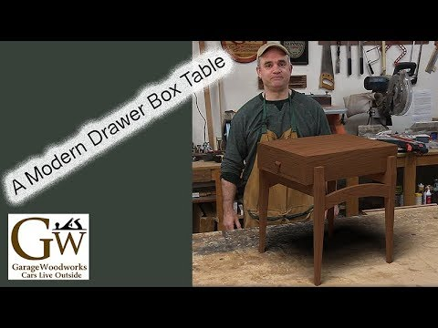 Modern Drawer Box Table Part 1