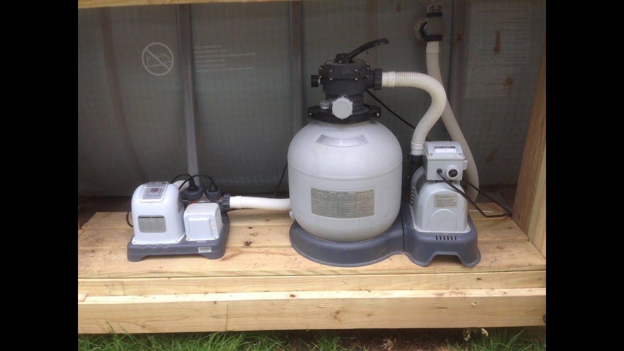hight resolution of intex sand filter low flow problem