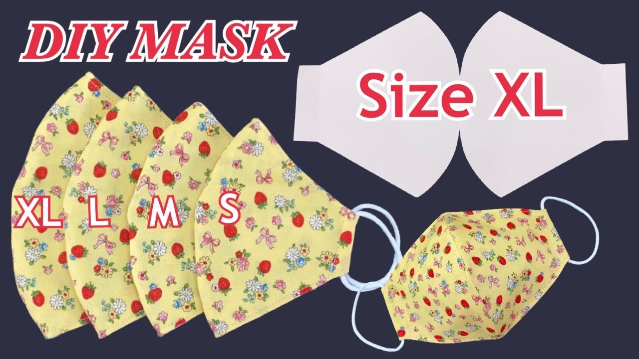 Diy New Face Mask Breathable (Size XL) Easy To Make With Filter Pocket Easy Pattern Sewing Tutorial