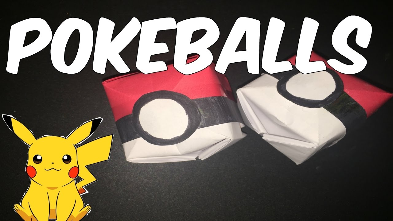 How To Make An Origami PokeballTUTORIAL