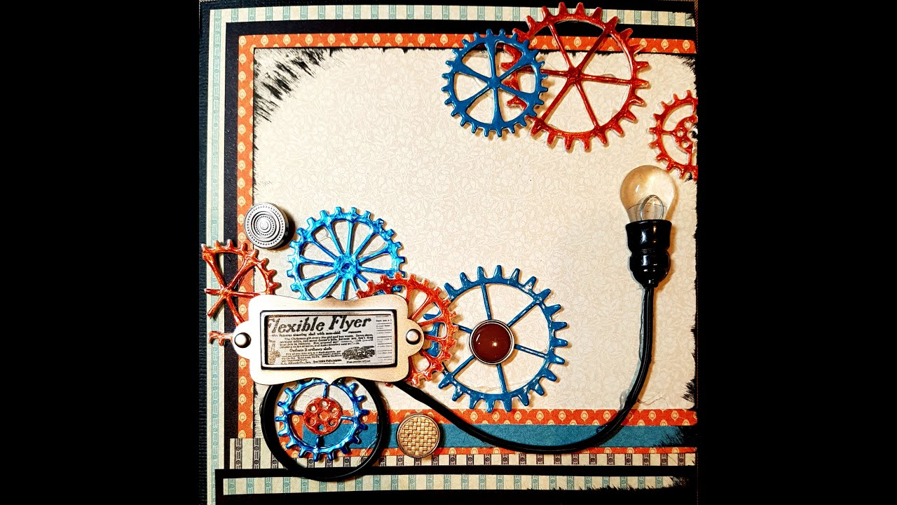 How To Make A Steampunk Birthday Card Video Tutorial Youtube