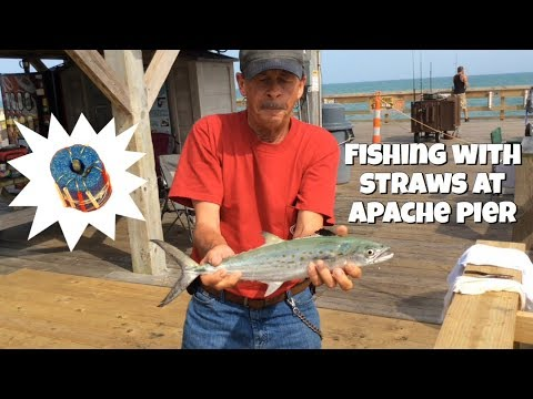 Fishing With Straws At Apache Pier