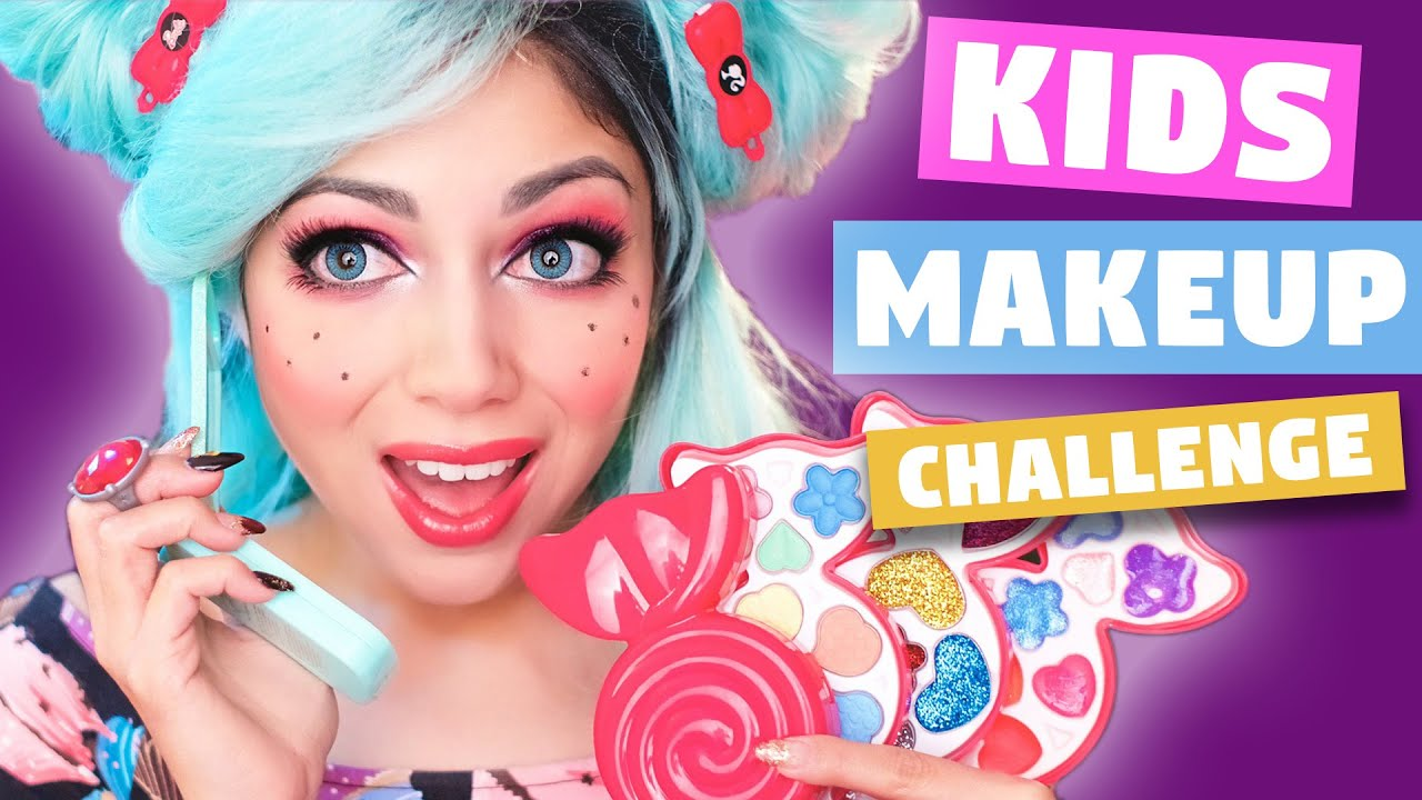 Full Face Using Only Kids Makeup Challenge Charisma