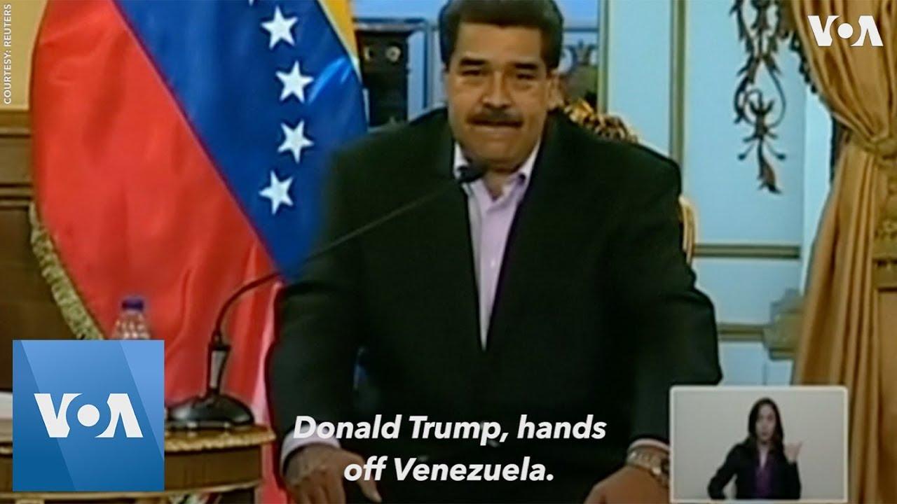 "Nicolas Maduro Tells President Donald Trump: ""Hands off Venezuela"""