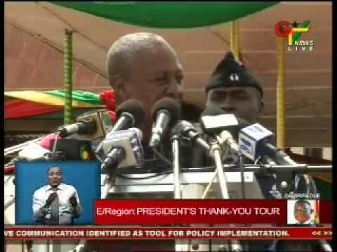 Eastern Region: President Mahama's Thank You Tour