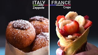 4 Way International Desserts | World Food Ideas | Dessert Ideas From Around The World !