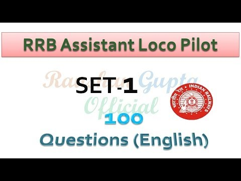 RRB ALP QUESTION AND ANSWER SET-1 (IN ENGLISH)