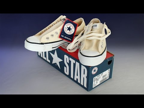 Vintage new-in-box USA-MADE Converse All Star Chuck Taylor shoes white at  collectornet.net b4e1f077f