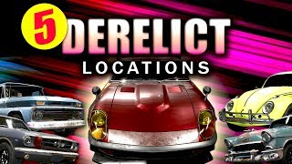 All 5 Derelict Locations | Need for Speed Payback (All Derelict Car Part Locations)