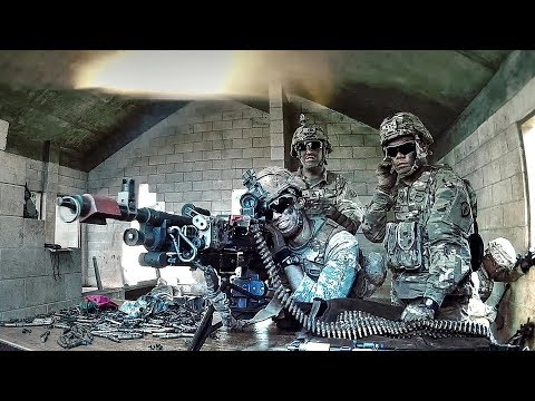 US Army Infantrymen Conduct Squad Room-Clearing Exercise