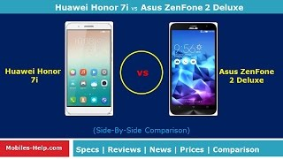 huawei honor 7i vs asus zenfone 2 deluxe side by side comparison