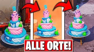 CHALLENGES DE L'BIRTHDAY DE NOUVEAU dans FORTNITE! ARTICLES GRATUIT à FORTNITE!!