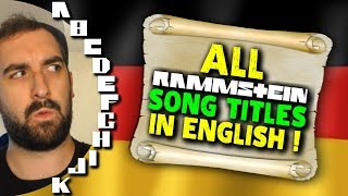 Every RAMMSTEIN Song Title Translated To ENGLISH - A-Z! 🔥 chords   Guitaa.com