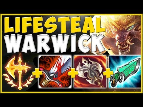 STOP PLAYING WARWICK WRONG! SEASON 10 MAX HEAL WW IS 100% NUTTY! WARWICK GAMEPLAY! League of Legends