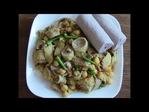 Ethiopian Food - አልጫ ፍርፍር በሽንብራ አሰራር