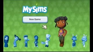 Wii Gameplay My Sims Ep.1 - Creating me and my house╏Huggy Bunnies