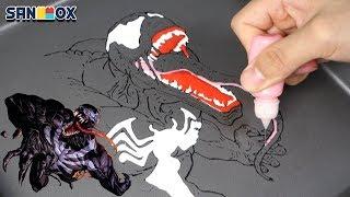 Drawing Marbel Venom (마블 베놈) Tom Hardy edible pancake art