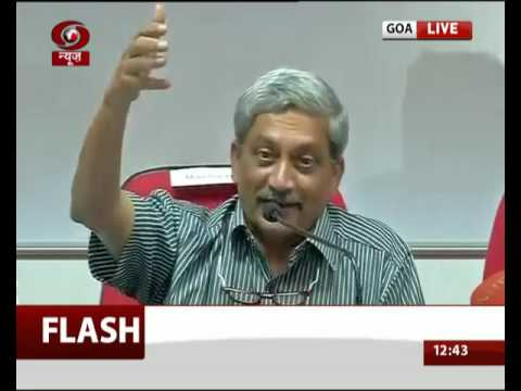 Goa: Manohar Parrikar addresses a press conference after winning floor test