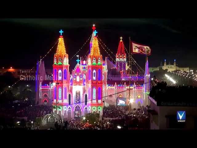 Vailankanni Festival 2014 -HD Video- Flag Hoisting   Part 2