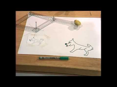 Enlarge drawings with a home-made pantograph
