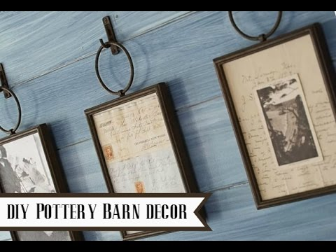 diy pottery barn home decor pottery barn dupe youtube