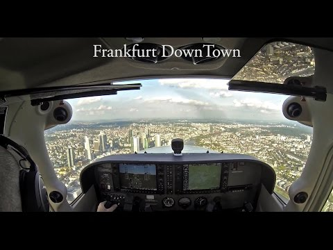 GoPro Hero 3 HD - Scraping Frankfurt Downtown with the C172.