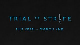 What is the Trial of Strife Play Test Weekend?