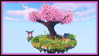 Floating Island Treehouse Base | Minecraft Timelapse