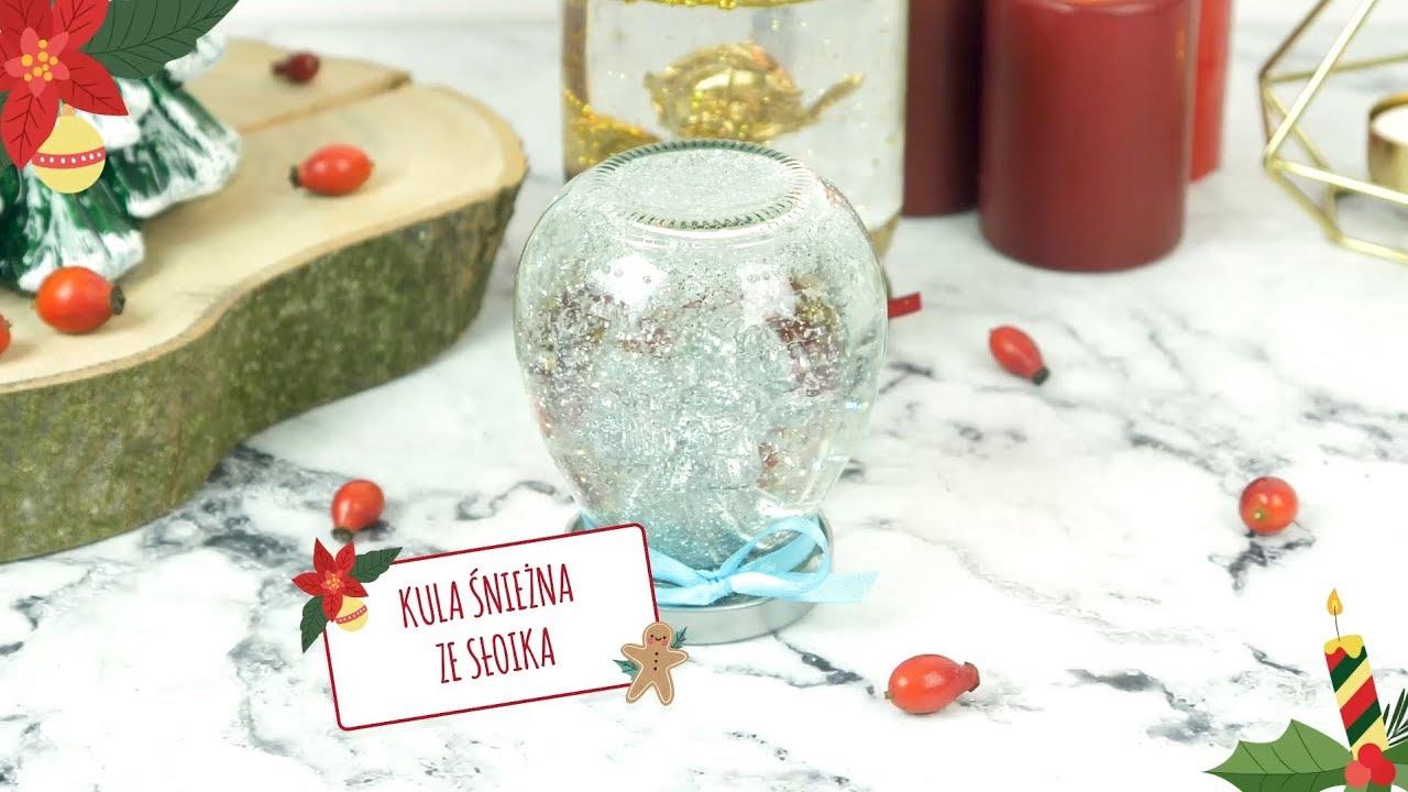 Jak zrobić kulę śnieżną ze słoika? #diy #święta