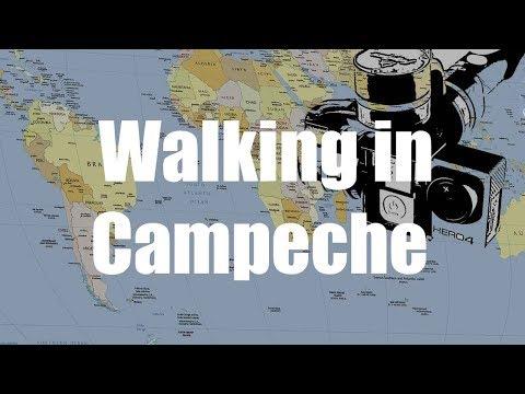 Walking in Campeche, Yucatan, Mexico | GoPro 4 Silver | Virtual Trip