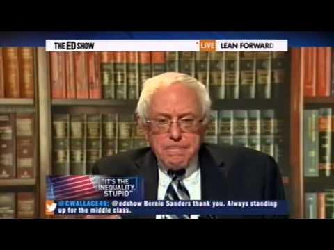 Senator Bernie Sanders Income Inequality in American SD