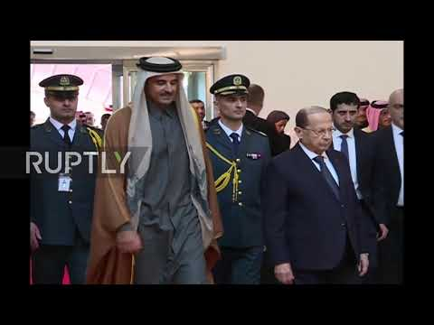 Lebanon: Qatari Emir arrives in Beirut for Arab Economic Sum