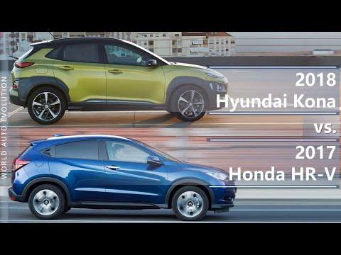 2018 Hyundai Kona vs 2017 Honda HR-V (technical comparison)
