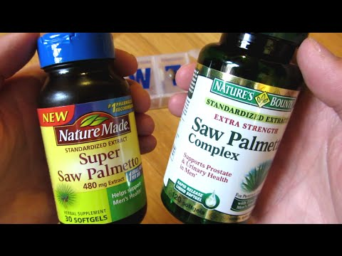 Nature Made Saw Palmetto and Nature Bounty Saw Palmetto Comparison
